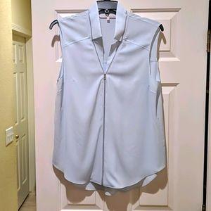 RACHEL Rachel Roy baby blue and silver blouse